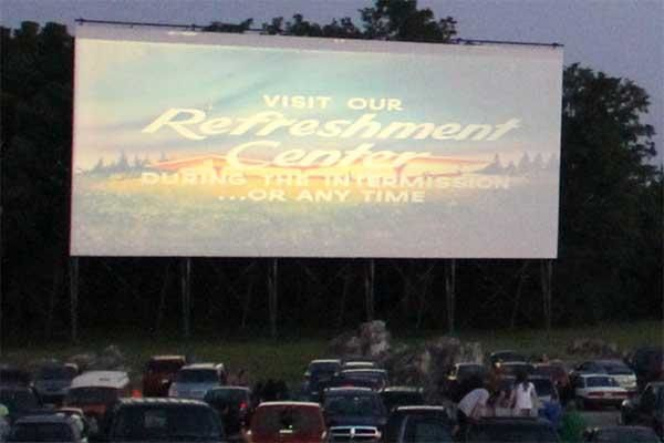 The screen at the Cumberland Drive-In Theatre in Newville