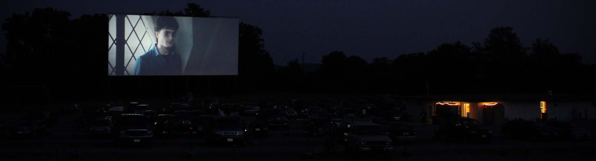 Harry Potter is screened at the Cumberland Drive-In Theatre in Newville